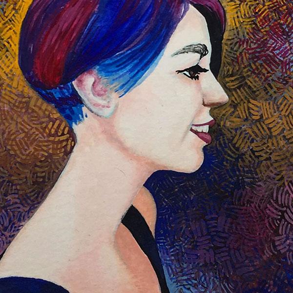Gouache Portrait Regina
