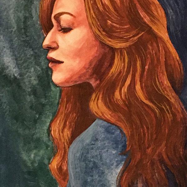 Gouache Portrait Sasha